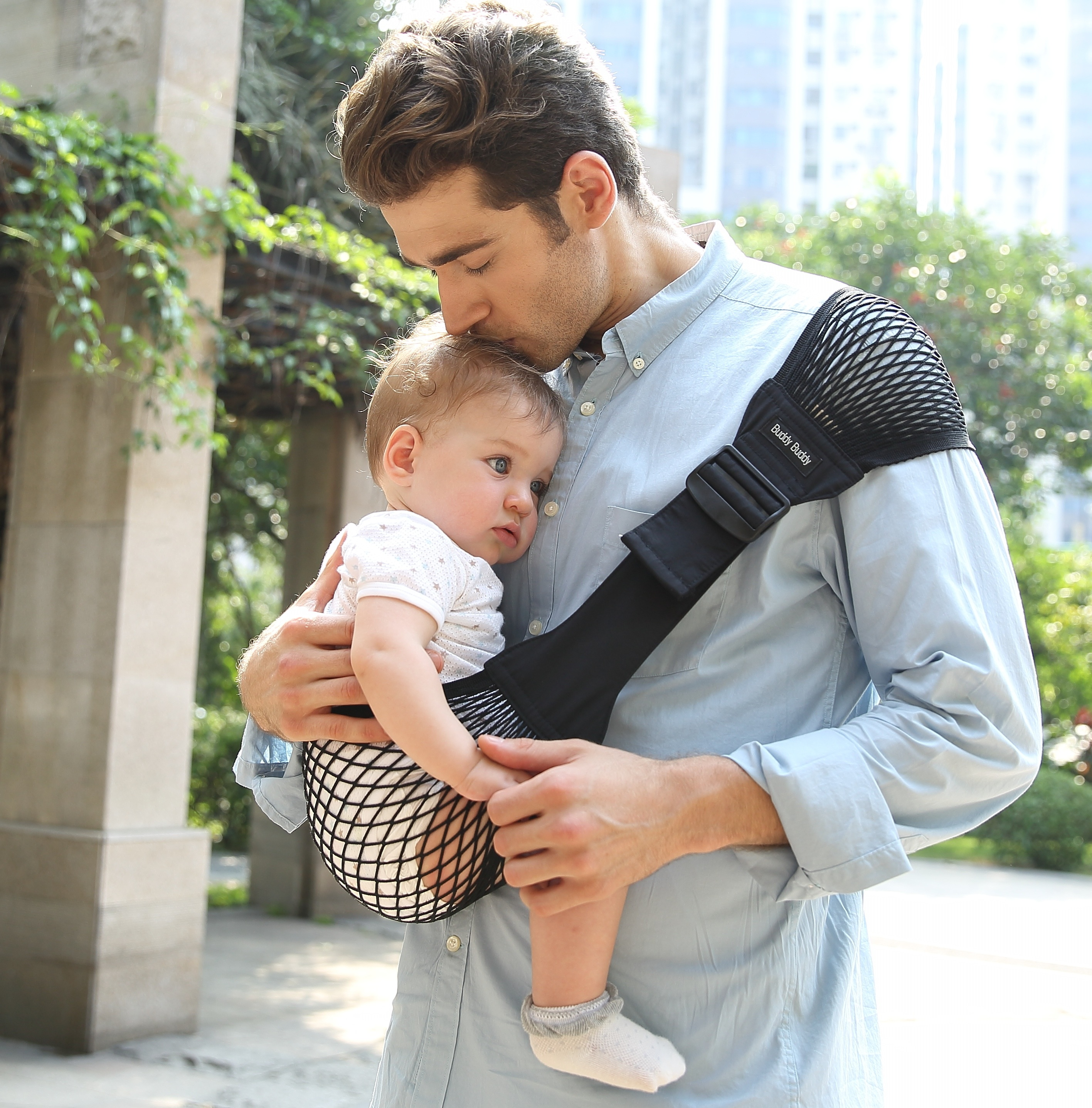kantan net baby carrier  baby sling  lucky baby japan  babyrug - kantan net baby sling