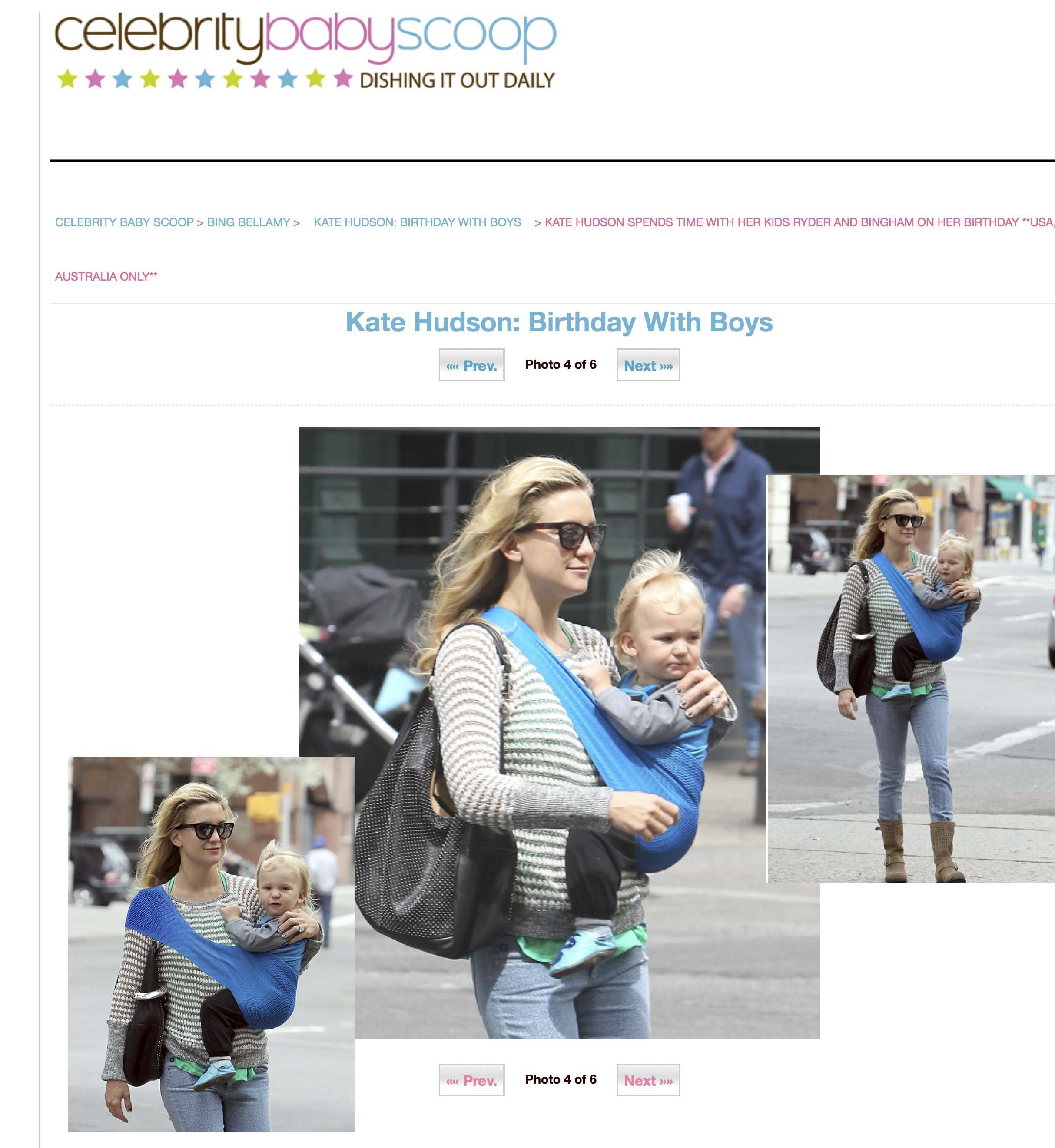 acd4428e7c1 Kate Hudson Spotted Wearing The SUPPORi Baby Carrier